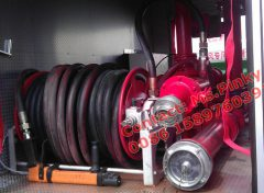 ISUZU Fire Fighting Truck Optional High Pressure Cleaning Hose Reel with High Pressure Cleaning Nozzle. Multifuntions.