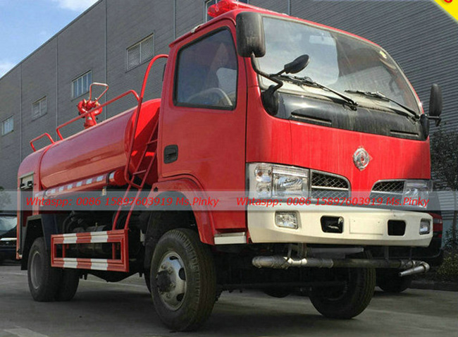 4wd All Wheel Drive Fire Truck With Water Tank 3 5tons