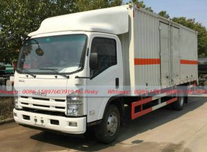 ISUZU Van Truck 190HP ELF ISUZU Container Vehicles