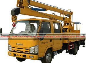 ISUZU 100P 10-14M Aerial Working Truck, Platform Aerial Working Truck, Traffic Lights Maintenance Trucks