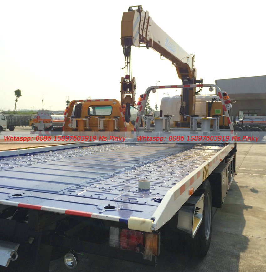 700p Elf Isuzu Flatbed Towing Wrecker Truck With 5ton Xcmg