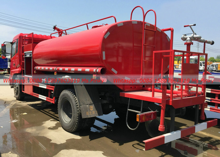 New model Dongfeng Fire Truck with 8Tons Water Tank 180HP