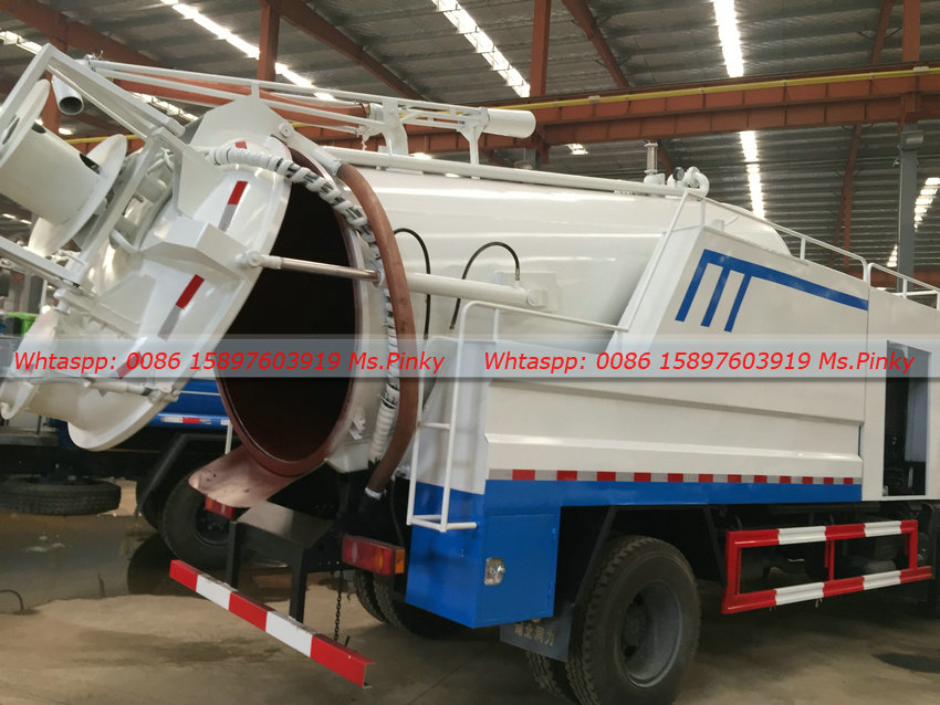 Vacuum Sewage Suction Combined Jetting Sewer Cleaning