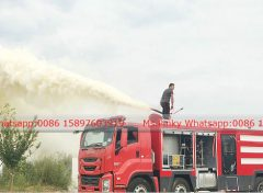 Fire engine ISUZU Dry Powder Testing 001